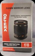 Opteka 500mm f/8 HD Telephoto Precision Optics Mirror Lens T-mount