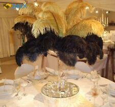 10pcs Ostrich Feathers 12-14inch 30-35cm for Home Wedding Decoration Gold New