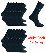 Pierre Cardin 24 Pairs Black Socks Formal Dress Work Casual Smart Men Suit Sock