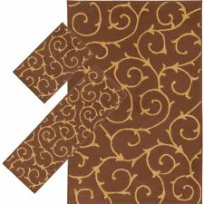 Throw Rugs Contemporary 3 Piece Set Bedroom Area Floor Mat Runner Scatter Brown