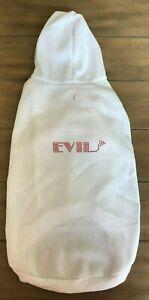 EVIL Dog Hoodie Sweatshirt - XXXL - White - Bedazzled - Horn - Mirage - NWT