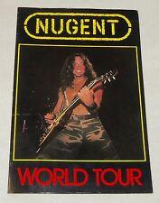 "TED NUGENT 1982 ""Habitual Offender"" USA Tour Concert Program Book"