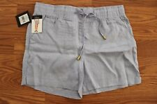 NWT Womens ELLEN TRACY COMPANY Chambray Blue Linen Shorts Size S Small $59.50