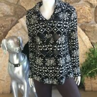 Forever 21 Toggle Front Snowflake Sweater Women's Size L Acrylic Wool Blend
