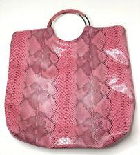 Kim Kardashian Kollection Bag Vegan Snake Skin Pink Large Tote Multicolored EUC