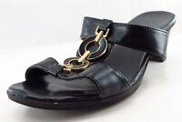 Sbicca Slides Black Leather Women Shoes Size 9 Medium (B, M)