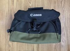 Canon Black And Green Camera Bag With Strap