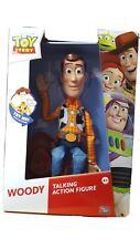 "Pixar Toy Story 4 ""WOODY"" Talking Action Figure Think Way Toys 15 Sayings NIB"