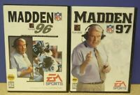 John Madden NFL Football 96 + 97 EA - Sega Genesis Working Tested - 2 Game Lot