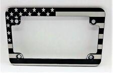 Motorcycle American Flag, Slimline Billet Aluminum License Plate Frame, MCSLB