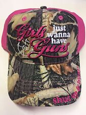 NEW Girls Just Wanna Have Guns Pink and Camo Hat, Shut up & Hunt! on Bill
