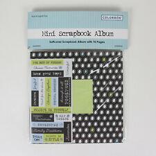 Colorbok Mini Scrapbook Album Softcover 10 Pages Black White Dots Friends Life