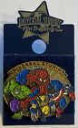 Vintage Universal Studios Gold Pin 2002 Marvel Wolverine Spider-Man Cpt America