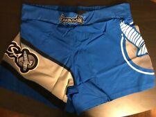 Hayabusa Kickboxing MMA Shorts - Blue/Grey Medium (32) - Free Shipping