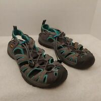 KEEN Sport Hiking Sandals Shoes Women's 9.5 Waterproof Gray Turquoise Teal
