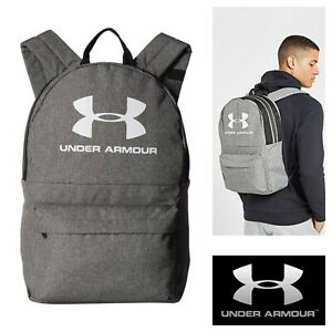 Under Armour Backpack Gym School Bag Sports Loudon Storm Rucksack Laptop Grey