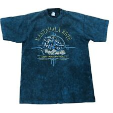 Vtg Nantahala River Great Smokies Rafting Co Shirt Large Blue Short Sleeve Tee