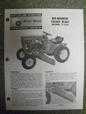 Wheel Horse Parts List and Instructions Manual  Grader Blade 7-1112   Original