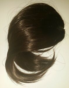 New Premium Quality》Tangle Free》Hair Bang Extension》BROWN #4