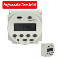 CN101A 24V-220V LCD Digital Weekly Programmable Power Timer Time Relay Switch UK