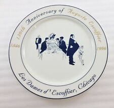 Les Dames D'Escoffier Chicago 150 Anniversary Charger Plate Villeroy Boch 1996
