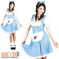 Dorothy Ladies Fancy Dress Fairytale Book Movie Womens Film Adults Costume New