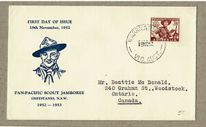 Australia 1952 Scout on Unknown Greystanes FDC Cover