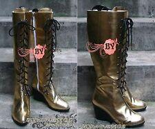 Cosplay Schuhe Stiefel Boots aus PU Megurine Luka Vocaloid Handarbeit Gr.34-44