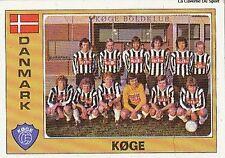 N°030 KOGE TEAM EURO FOOTBALL 76 STICKER CROMO PANINI VIGNETTE DENMARK DANMARK