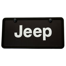 Jeep Black License Plate Vanity Tag & Frame Made in USA