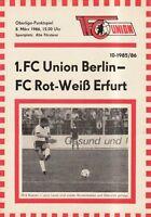 OL 85/86  1. FC Union Berlin - FC Rot-Weiß Erfurt