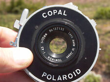 Polaroid Copal shutter T,B, 1~125  Tominon 75mm F:4.5 lens & ring 9+++