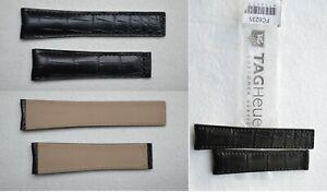 Original Genuine Tag Heuer Monaco Carrera Alligator 22mm 18mm Leather OEM Strap