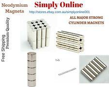 Neodymium Cylinder Magnets 5mm / 8mm / 10mm × 20mm , 4mm × 8mm/10mm