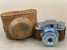 CHARMY Hit Type Vintage Subminiature Camera Brown Covering w/ Case - NICE !