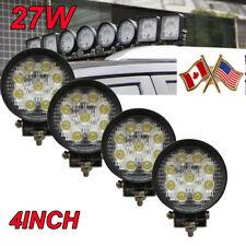 """4x 4"""" 27W LED Spot Beam Motorcycle Fog Driving Work White Light For Honda"""