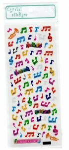 Crystal Stickers - Music themed Small Colourful Musical Notes
