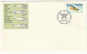 "Canada FDC Scott #971 Noorduyn Norseman Oct 5, 1982  ""Bush Aircraft"" **"