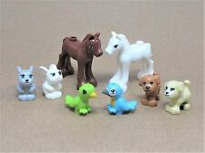 NEW LEGO Lot 8 Pets Animal Minifig Foal Pony Horse Dog Puppy Bunny Friends  C09