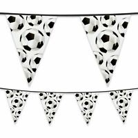 6m Plastic Football Bunting Banner Flag World Cup Footy Childs Party Decoration