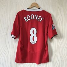 MANCHESTER UNITED 2004 2006 HOME FOOTBALL SHIRT JERSEY NIKE ROONEY #8
