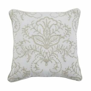 Croscill Liliana Square Decorative Throw Pillow in Ivory