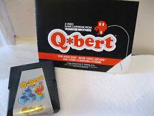 PARKER BROS. Cartridge for ATARI Q-BERT with  Instruction Manual No Box