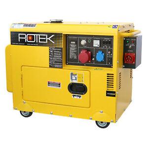 Stromerzeuger 5,5kVA Stromaggregat 400V Notstromaggregat Generator Diesel ATS