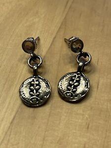 SILPADA RETIRED Sterling Silver 925 Drop Earrings w/ Flower Vine NWOT
