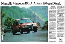 Publicité Advertising 1984 (2 pages ) Mercedes 190 D