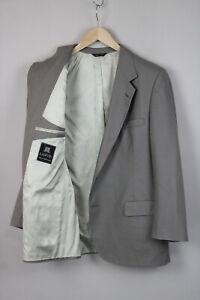 LANVIN Men'S ~LARGE 100% Virgin Wool Two Button Formal Blazer U.S.A 18367-JS