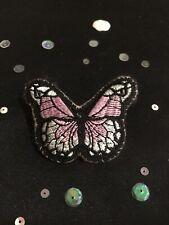 Handmade Pink Butterfly Brooch. Vintage Style Brooch.