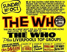 Vintage The Who - Cavern Liverpool Music Concert Poster Art Print