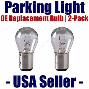 Parking Light Bulb 2-pack OE Replacement Fits Listed Toyota Vehicles - 2057